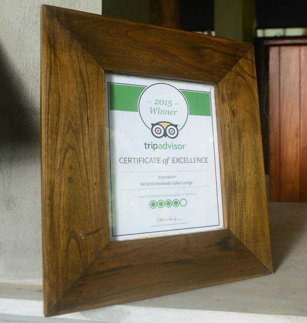 hotel ratings - Trip Advisor 2015 Winner Udawalawe Hotel